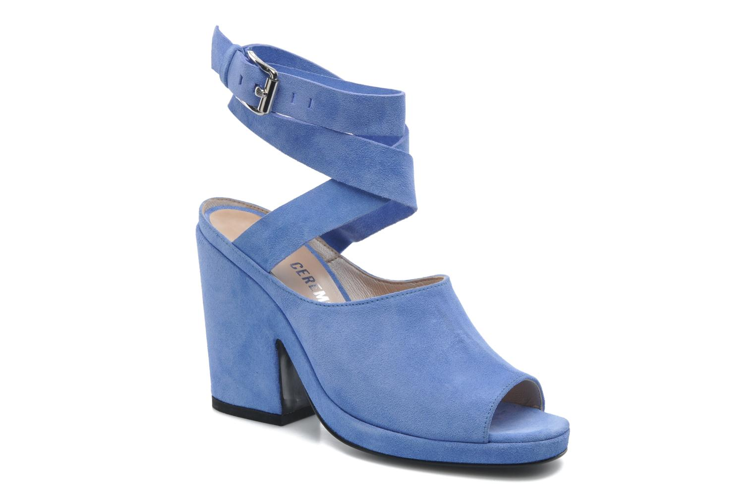Sandals Opening Ceremony Emi platform sandal Blue detailed view/ Pair view