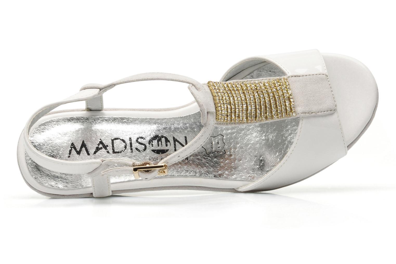 Sandales et nu-pieds Madison Escada Blanc vue gauche