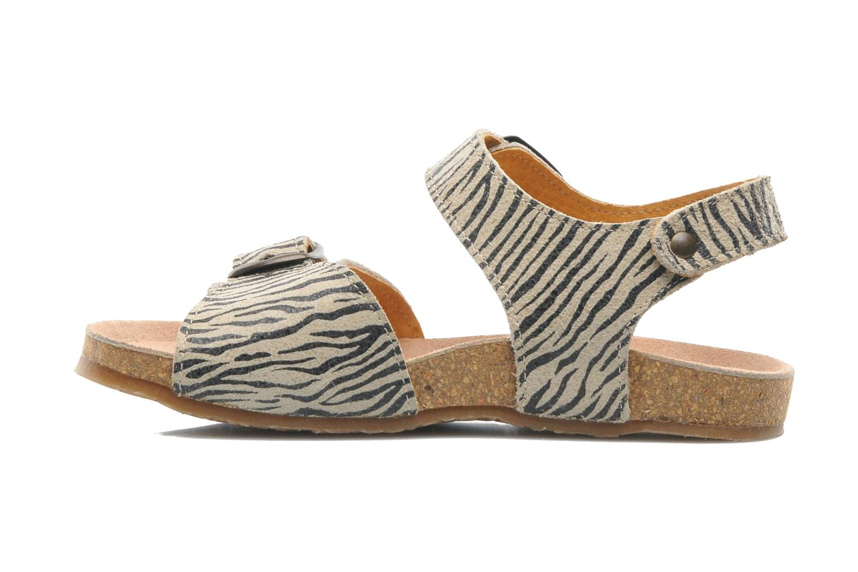 Sandales et nu-pieds PèPè Zebra Beige vue face
