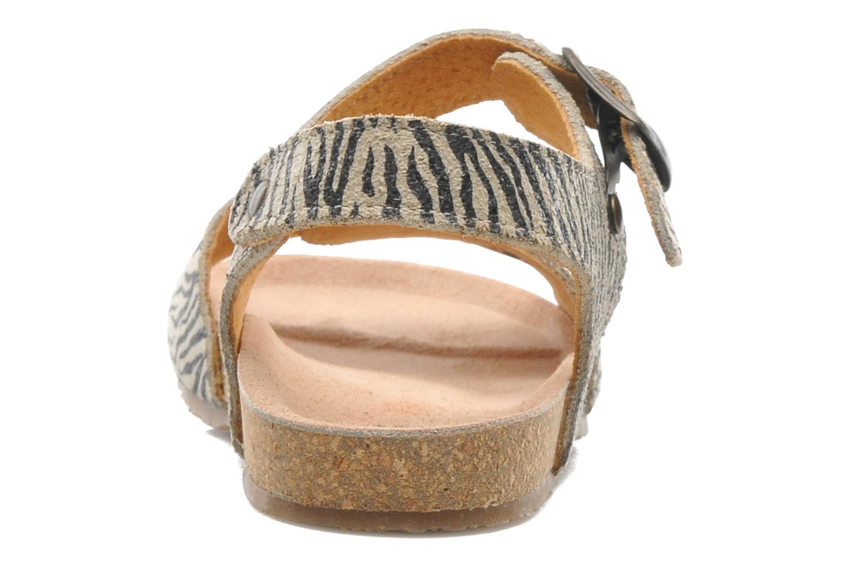 Sandales et nu-pieds PèPè Zebra Beige vue droite