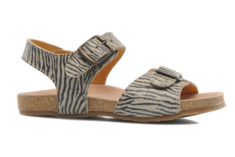 Sandales et nu-pieds PèPè Zebra Beige vue derrière