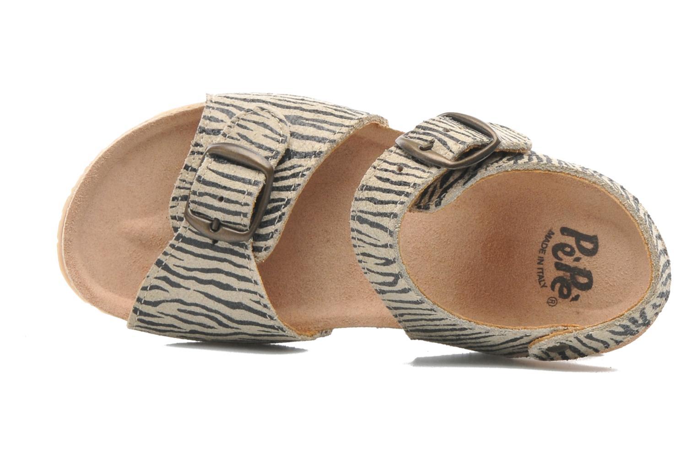 Sandales et nu-pieds PèPè Zebra Beige vue gauche