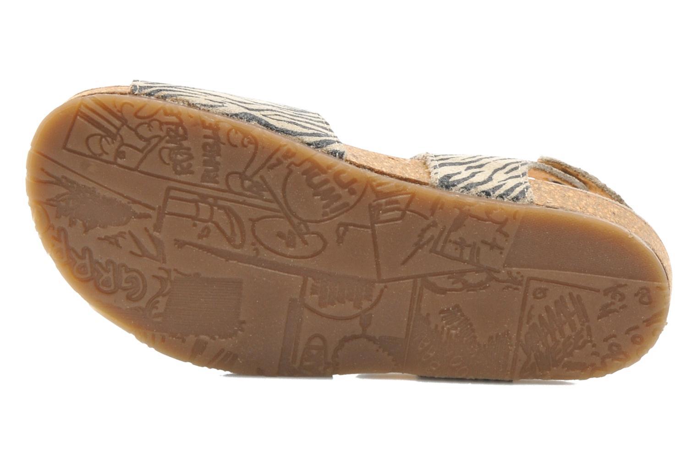 Sandales et nu-pieds PèPè Zebra Beige vue haut