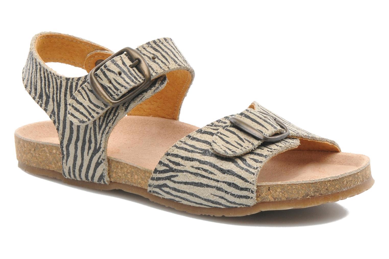 Sandales et nu-pieds PèPè Zebra Beige vue détail/paire