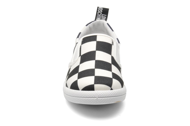 Sneaker Love Moschino Check mehrfarbig schuhe getragen
