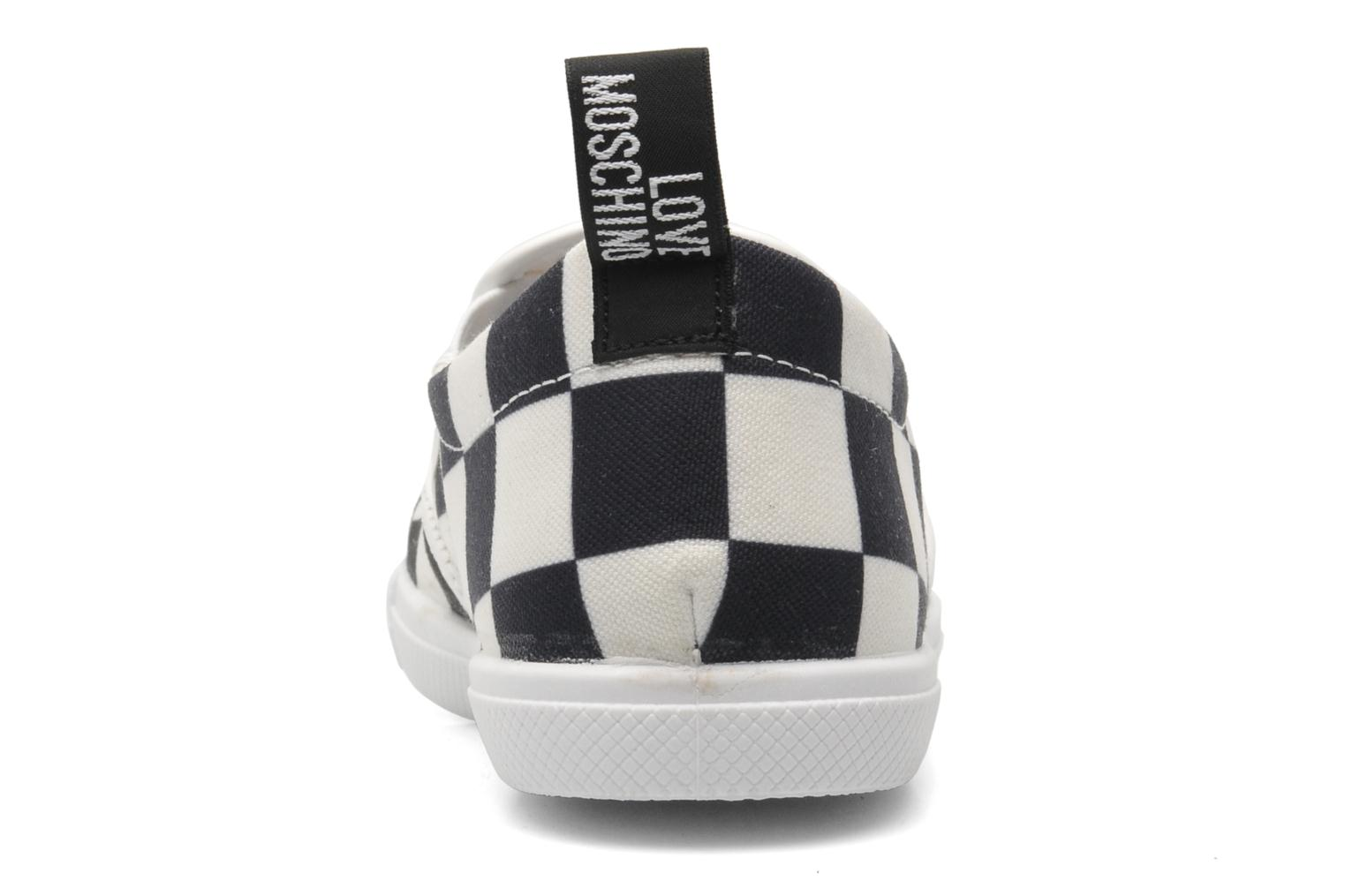 Baskets Love Moschino Check Multicolore vue droite
