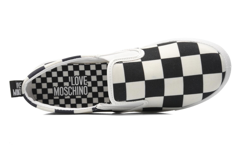 Sneaker Love Moschino Check mehrfarbig ansicht von links