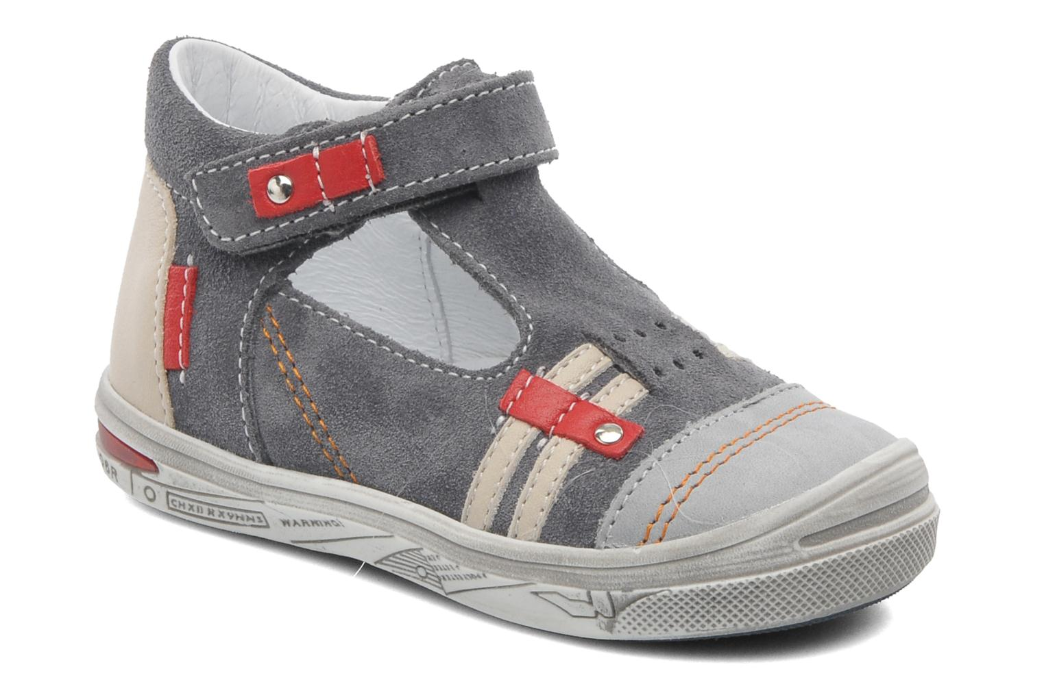 Summer boots Bopy BARANE Grey detailed view/ Pair view