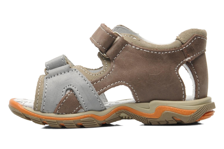 Sandalen Bopy BEBOLT braun ansicht von vorne