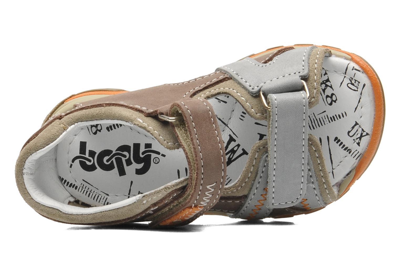 Sandalen Bopy BEBOLT braun ansicht von links