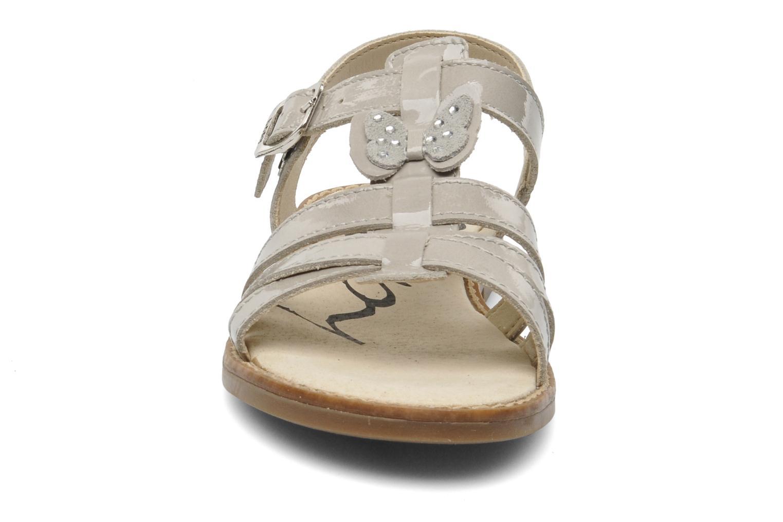 Sandales et nu-pieds Bopy ELOISE Gris vue portées chaussures