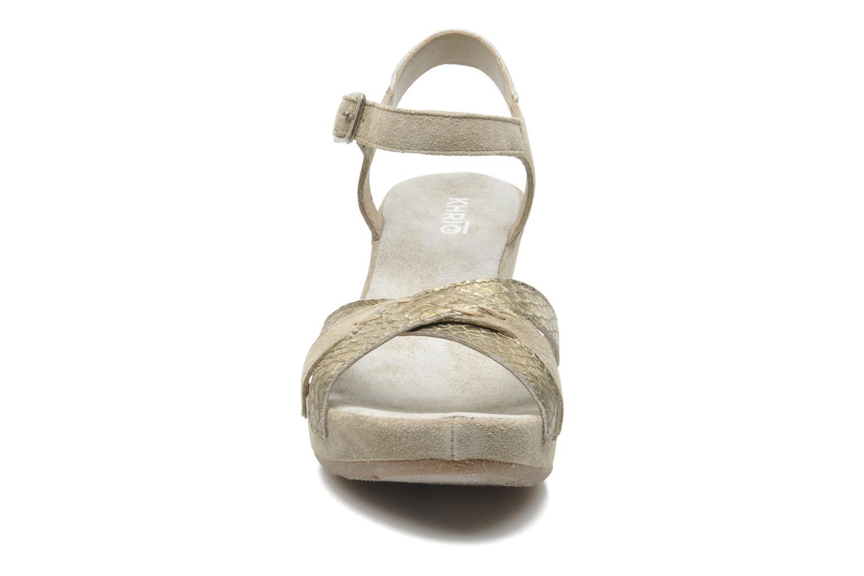 Sandalen Khrio Lala beige schuhe getragen