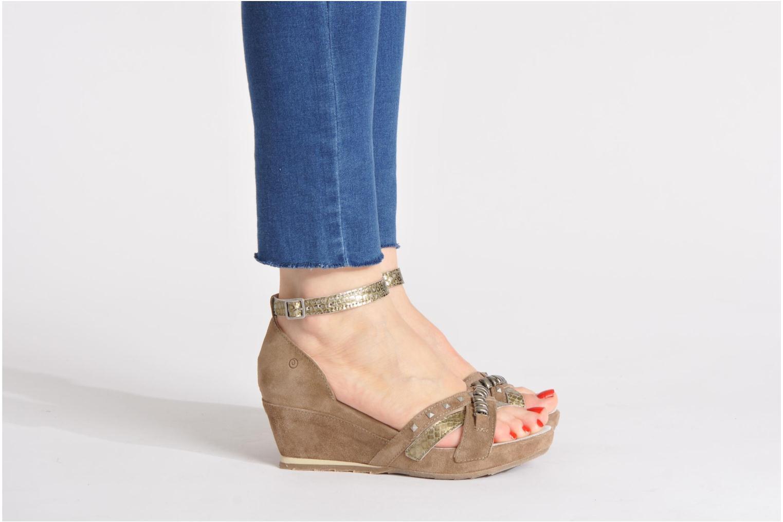 Sandales et nu-pieds Khrio Lou N Gris vue bas / vue portée sac