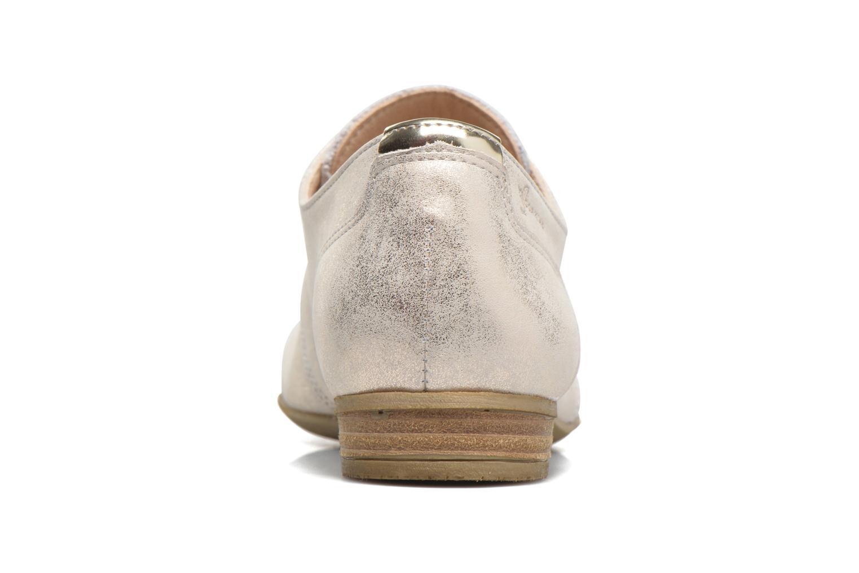Zapatos con cordones Dorking Candy 5058 Plateado vista lateral derecha