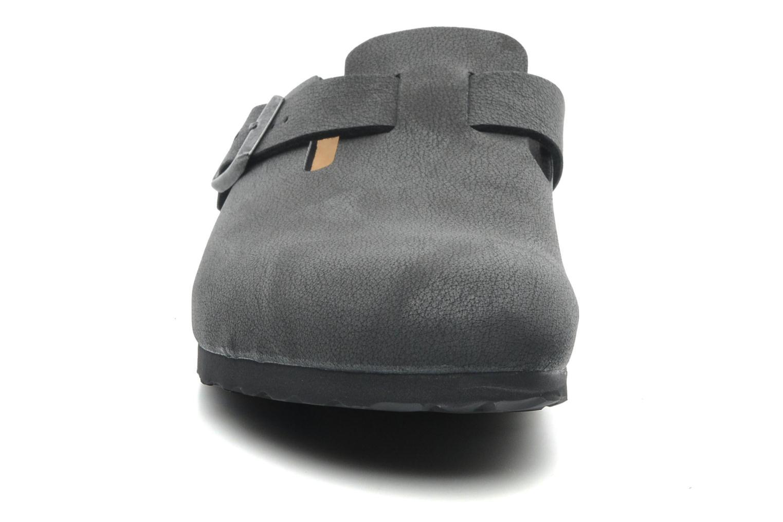 Sandales et nu-pieds Birkenstock Boston Bf Nubuck M Gris vue portées chaussures