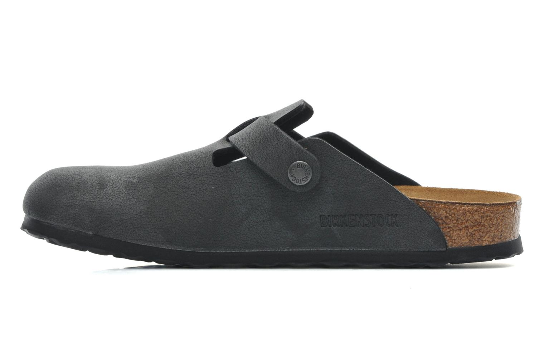 Sandales et nu-pieds Birkenstock Boston Bf Nubuck M Gris vue face
