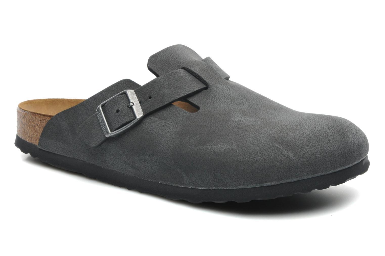 Sandales et nu-pieds Birkenstock Boston Bf Nubuck M Gris vue détail/paire
