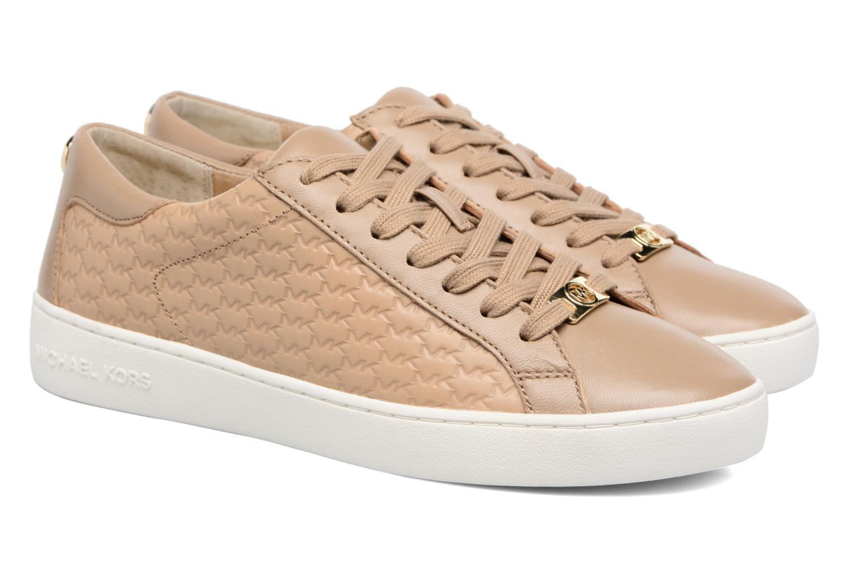 Baskets Michael Michael Kors Colby Sneaker Vert vue 3/4