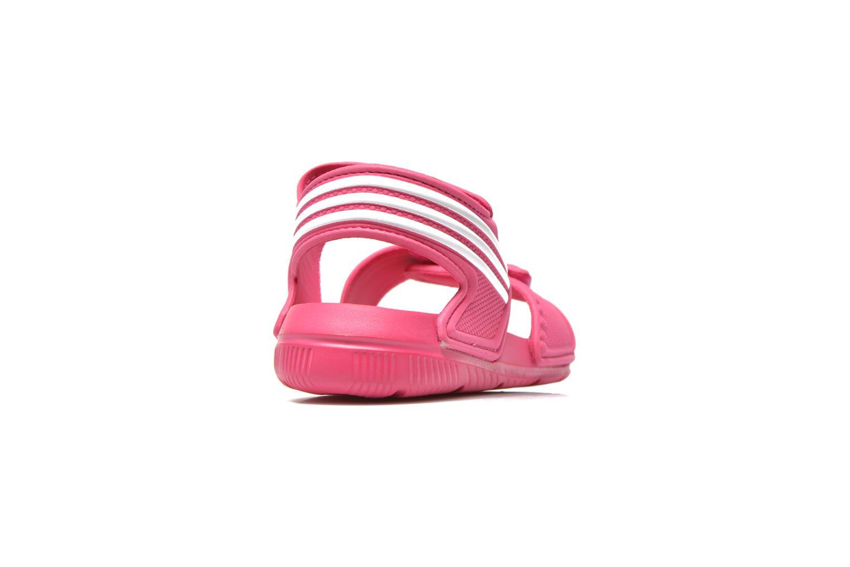 Sandalias Adidas Performance Akwah 9 K Rosa vista lateral derecha