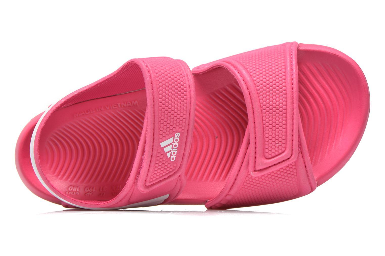 Sandalias Adidas Performance Akwah 9 K Rosa vista lateral izquierda