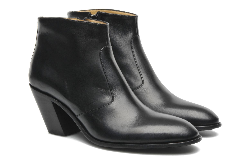 Demy 7 zip boot Veau Noir