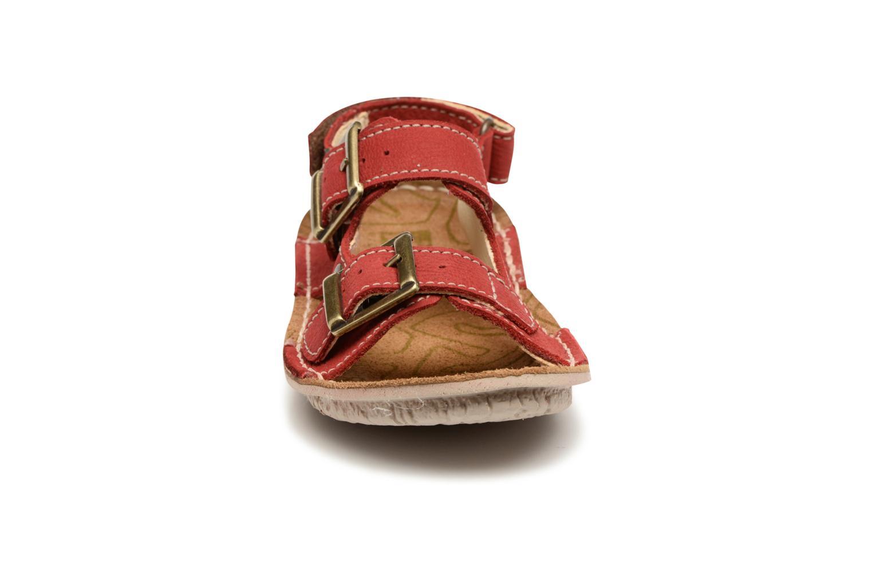 Sandales et nu-pieds El Naturalista Kiri E277 Rouge vue portées chaussures