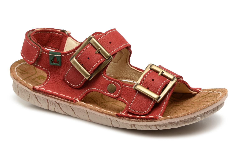 Sandales et nu-pieds El Naturalista Kiri E277 Rouge vue détail/paire