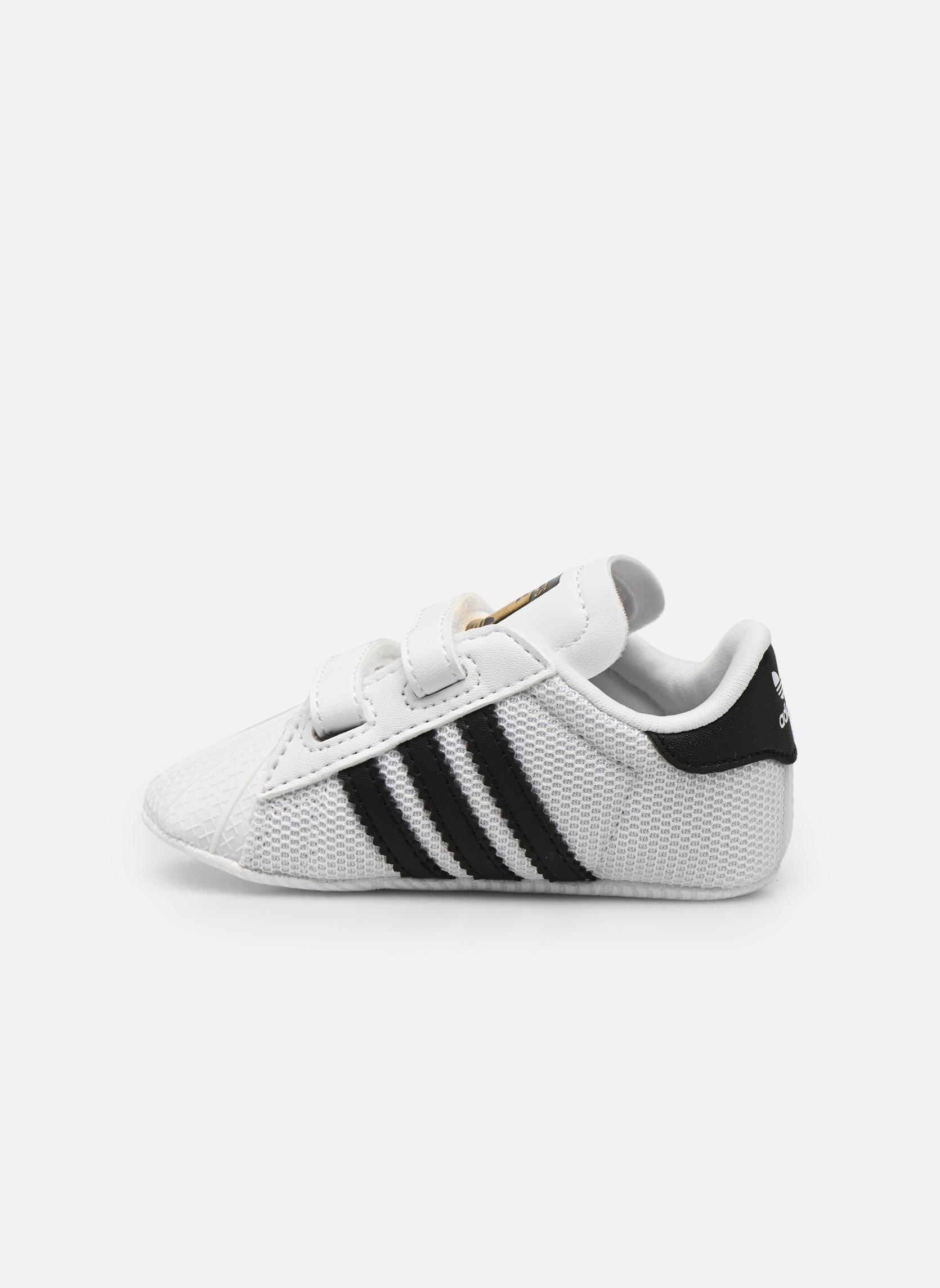 Baskets Adidas Originals SUPERSTAR CRIB Blanc vue face