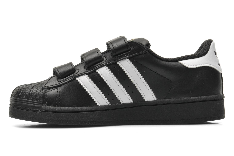 Sneaker Adidas Originals Superstar Foundation Cf C schwarz ansicht von vorne