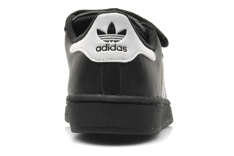 Deportivas Adidas Originals Superstar Foundation Cf C Negro vista lateral derecha