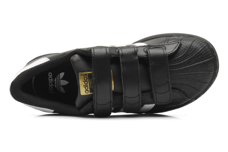 Sneaker Adidas Originals Superstar Foundation Cf C schwarz ansicht von links