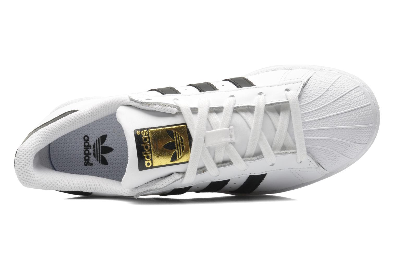 Sneaker Adidas Originals SUPERSTAR J weiß ansicht von links
