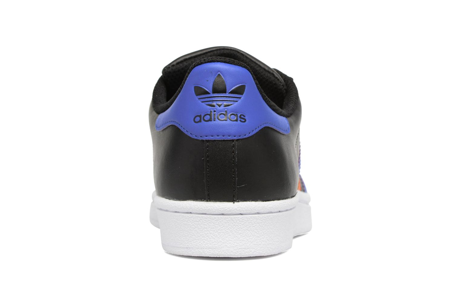 Trainers Adidas Originals SUPERSTAR J Black view from the right