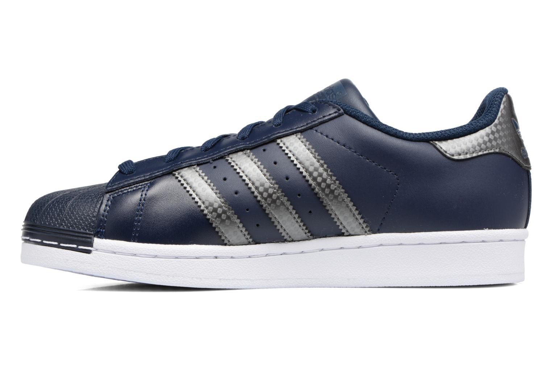 Trainers Adidas Originals SUPERSTAR J Blue front view