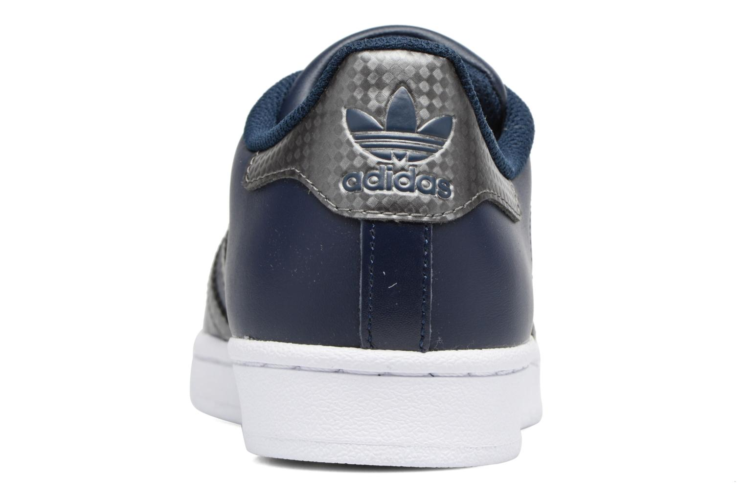 Trainers Adidas Originals SUPERSTAR J Blue view from the right