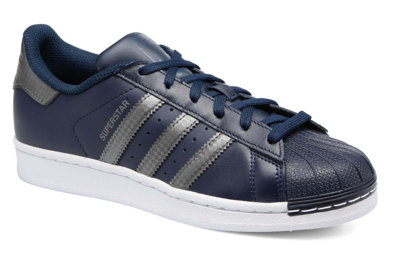 Trainers Adidas Originals SUPERSTAR J Blue detailed view/ Pair view
