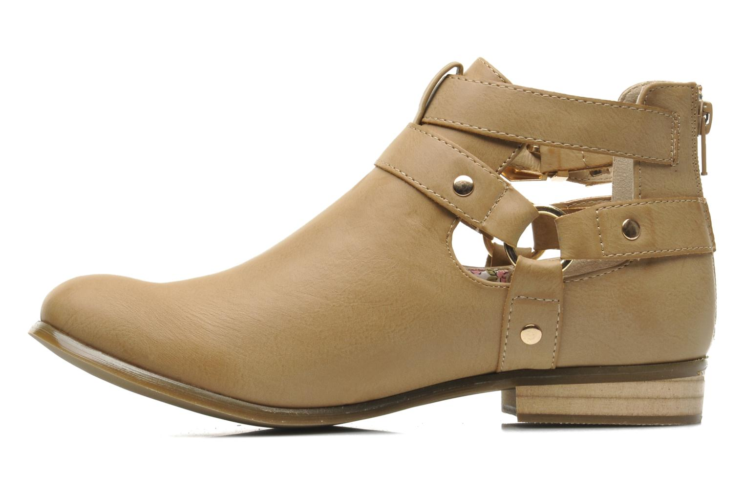 Ankle boots Divine Factory Akruks Beige front view
