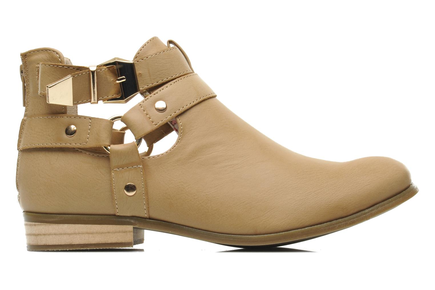 Ankle boots Divine Factory Akruks Beige back view