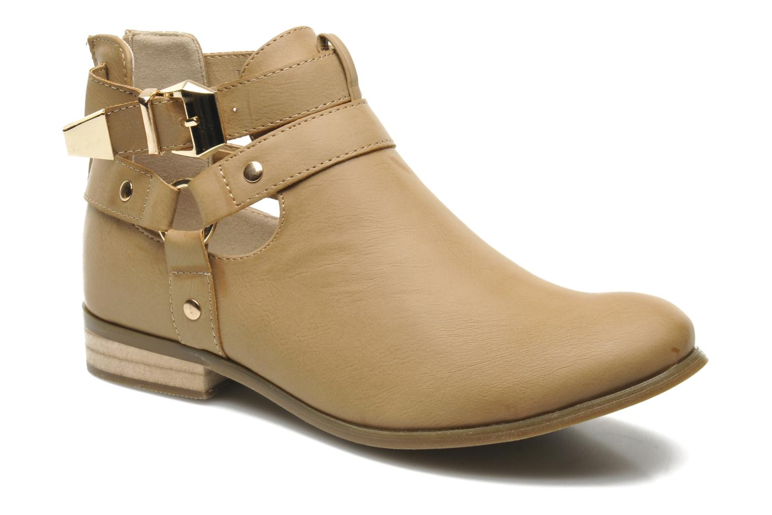 Ankle boots Divine Factory Akruks Beige detailed view/ Pair view