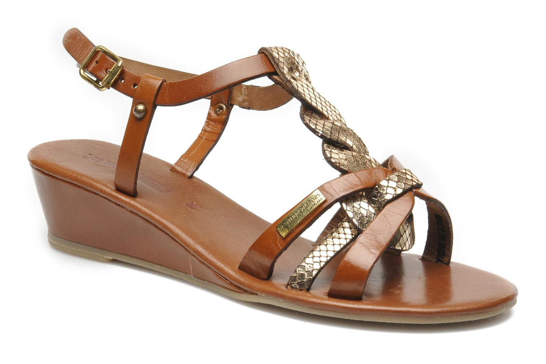 Sandaler Les Tropéziennes par M Belarbi Bilboa Brun detaljeret billede af skoene