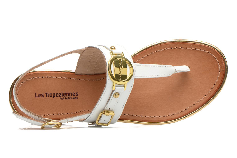 Sandalen Les Tropéziennes par M Belarbi Bebop weiß ansicht von links