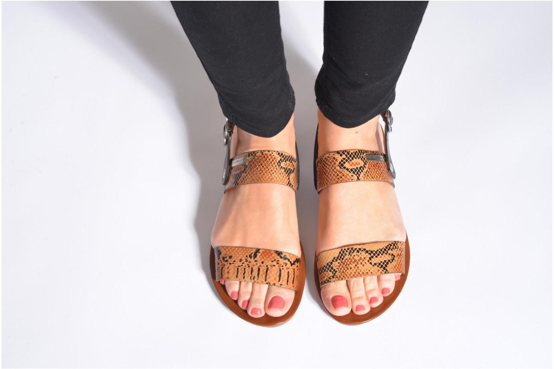 Sandales et nu-pieds Les Tropéziennes par M Belarbi Biniou Multicolore vue bas / vue portée sac