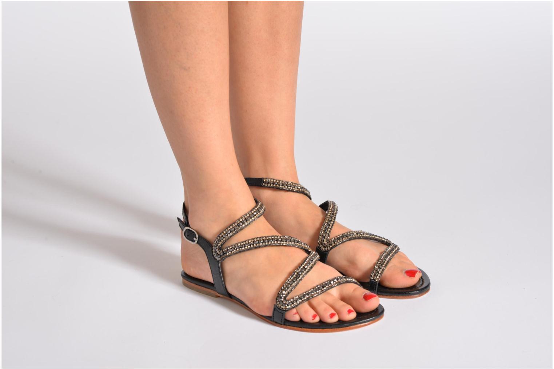 Sandales et nu-pieds Les Tropéziennes par M Belarbi Jolane Or et bronze vue bas / vue portée sac