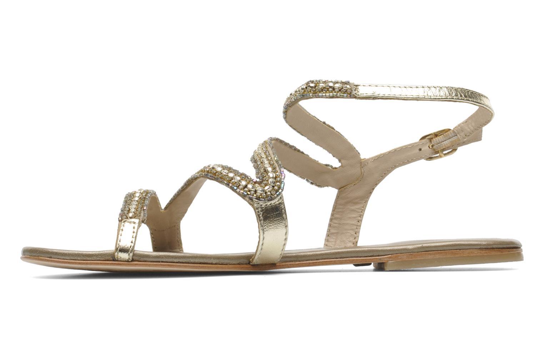 Sandales et nu-pieds Les Tropéziennes par M Belarbi Jolane Or et bronze vue face