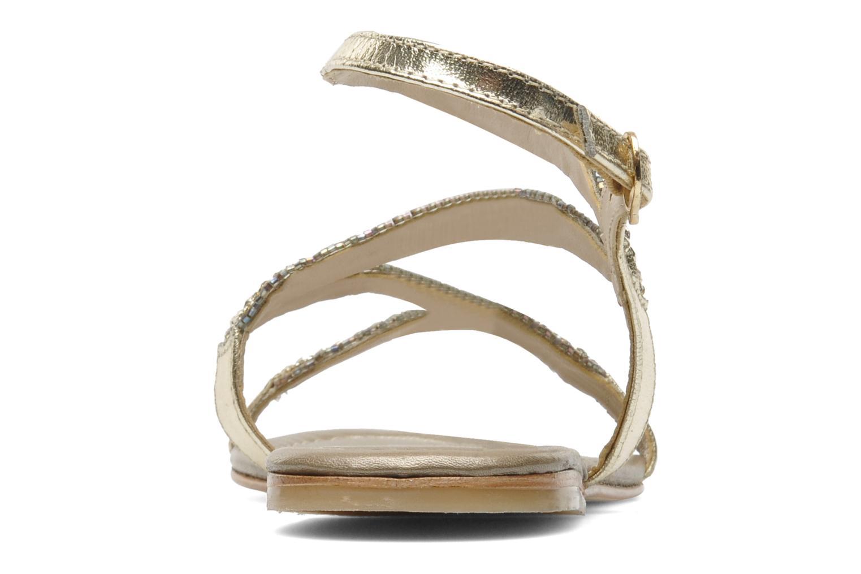 Sandales et nu-pieds Les Tropéziennes par M Belarbi Jolane Or et bronze vue droite