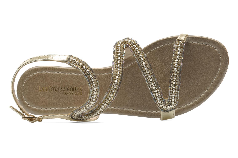 Sandales et nu-pieds Les Tropéziennes par M Belarbi Jolane Or et bronze vue gauche