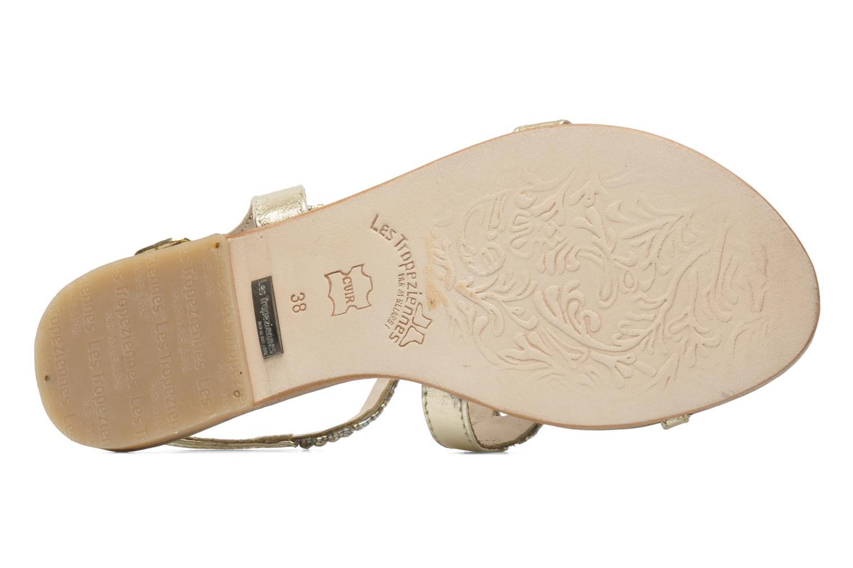Sandales et nu-pieds Les Tropéziennes par M Belarbi Jolane Or et bronze vue haut