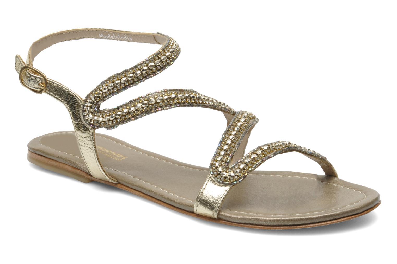 Sandales et nu-pieds Les Tropéziennes par M Belarbi Jolane Or et bronze vue détail/paire