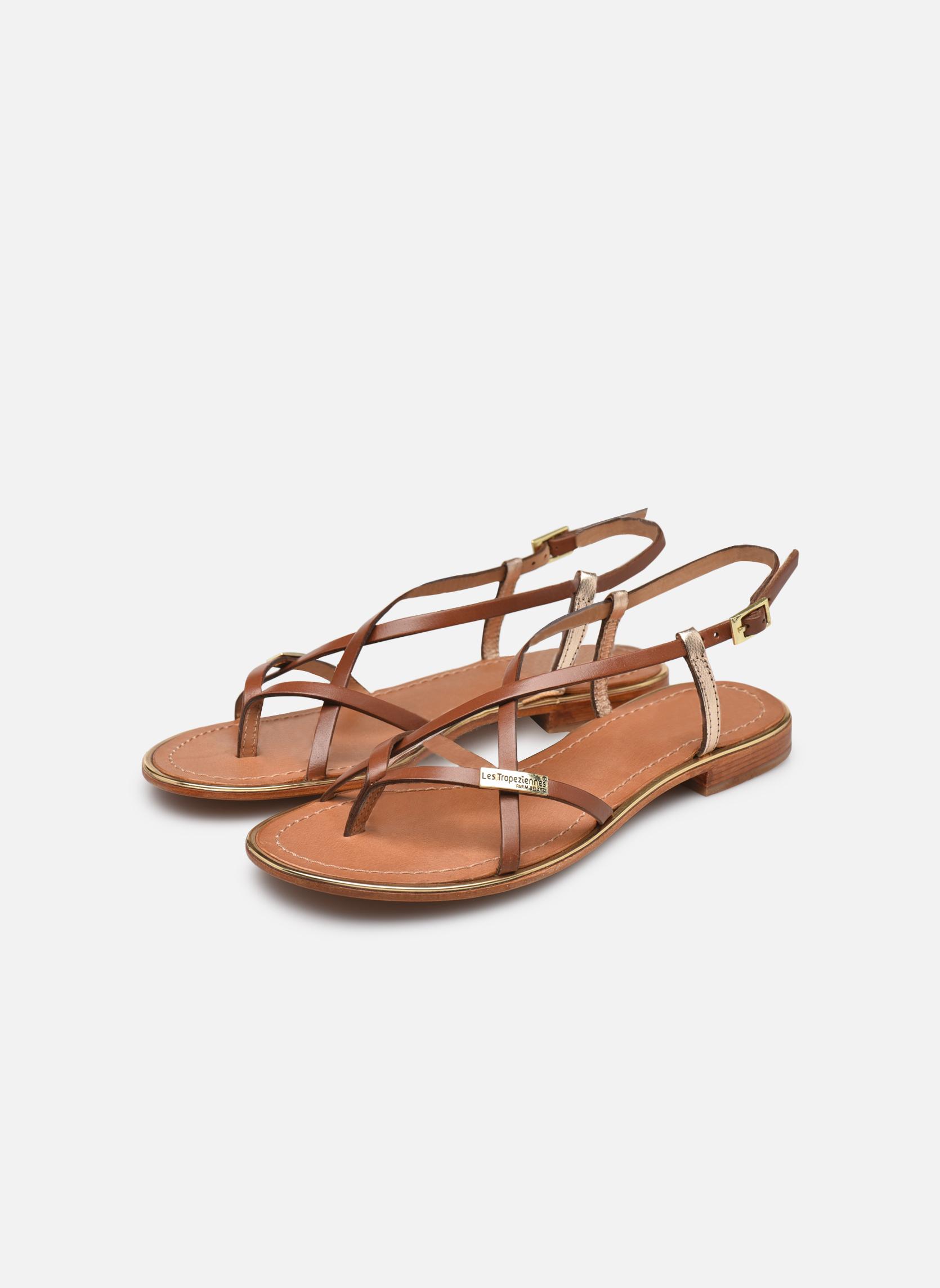 Sandals Les Tropéziennes par M Belarbi Monaco Brown view from underneath / model view