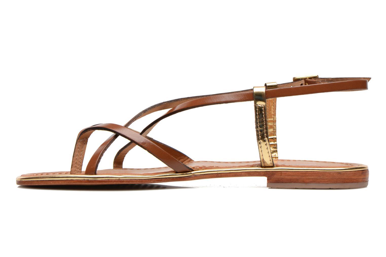 Sandals Les Tropéziennes par M Belarbi Monaco Brown front view